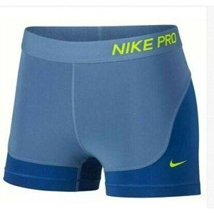 "Nike Pro Dri Fit 3"" Compression BLUE SHORTS"